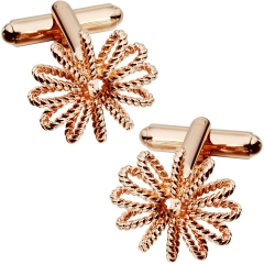 HAWSON Rose Gold Plated Cufflinks for French Cuffs/Shirts Garment Accessories/Ornament Gift/Present for Men