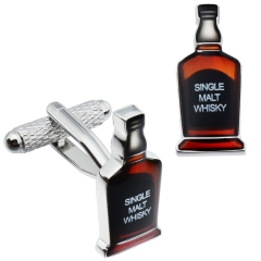 HAWSON Metal Cufflinks Whisky Bottle Crowned for French Cuffs/Shirts Garment Accessories/Ornament Gift/Present for Men