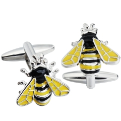 HAWSON Cufflinks Bumblebee/Hornet Crown for French Cuffs/Shirts Garment Accessories/Ornament Gift/Present for Men