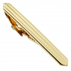 HAWSON Metal Tie Clip/Bar/Tack Gold Plated for 8cm/3.15 inches Necktie Gift/Present for Men