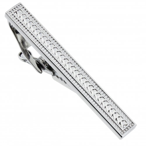 HAWSON Metal Tie Clip/Bar/Tack Rhodium Plated for 8cm/3.15 inches Necktie Gift/Present for Men