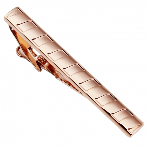 HAWSON Metal Tie Clip/Bar/Tack Rose Golden Plated for 8cm/3.15 inches Necktie Gift/Present for Men