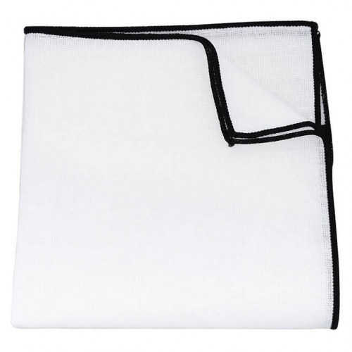 Gentleman's Pocket Square holder in White Color