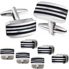 Cufflinks and Studs Set for Men Tuxedo Shirts Unique Business Wedding