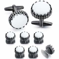 Onxy Cuff Links and Studs Sets for Men - HAWSON
