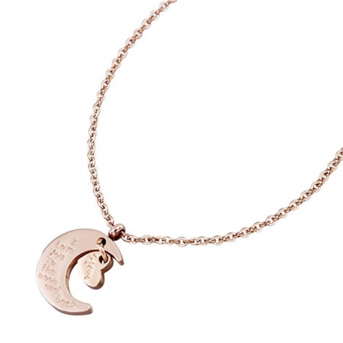 Rose Golden necklace made by elegant and luxurious metal