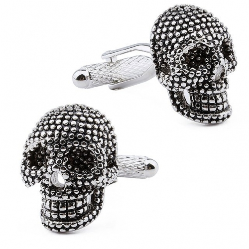 Classice Black Skull Cufflinks for Men-HAWSON