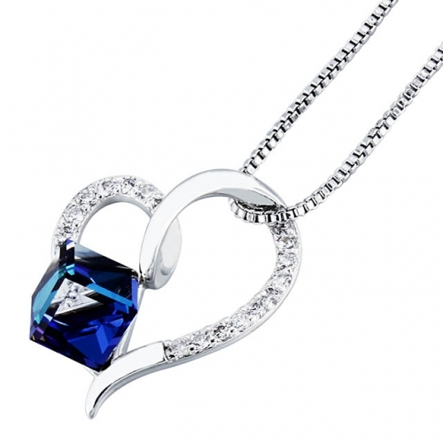 Blue Crystal Necklace For Women