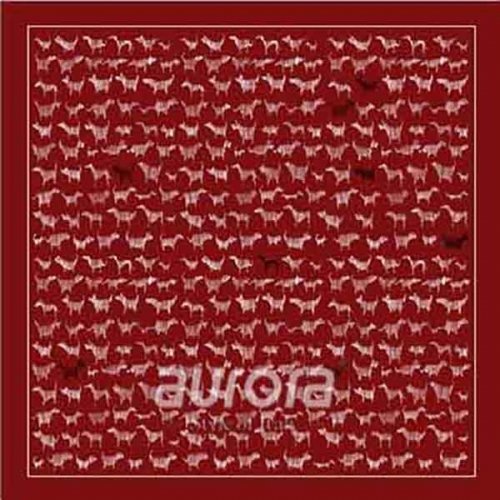 Gentleman's Pocket Square in red color with Lucky Dog pattern