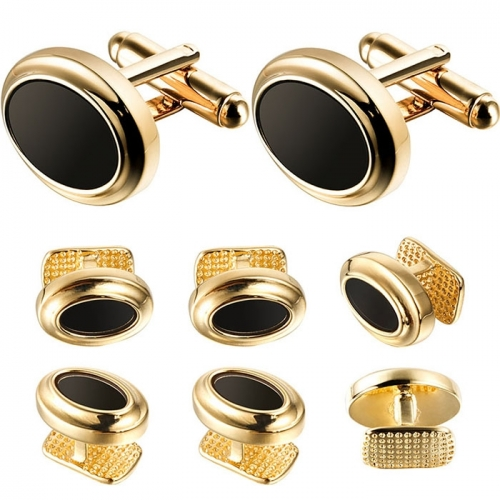 Cufflink and Tuxedo Studs Sets Golden Plated Color