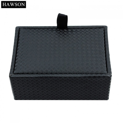 Wholesale 12 pcs Jewelry Cufflinks Box High Quality Black Plastic Gift Boxes Storage Organizer Case Holder